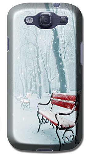 Phones Accessories Beautiful White Snow Tree Vellege Design Cases For Samsung Galaxy S3 I9300 # 8