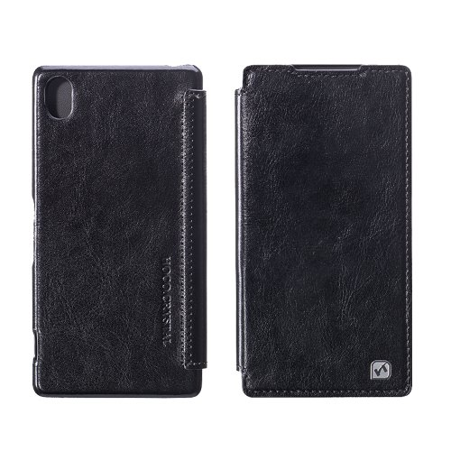 Moon Monkey Lightweight Ultra-Thin Classical Retro Leather Case For Sony Xperia Z2 (Black)