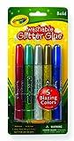 Crayola Washable Glitter Glue Pens .35 Ounce 5/Pkg-Bold