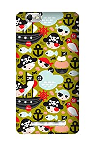 ZAPCASE Printed Back Cover for Lenovo Vibe C A2020