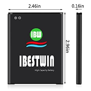 Galaxy J7 Battery, IBESTWIN 3000mAh 3 85V Li-ion Battery for Samsung