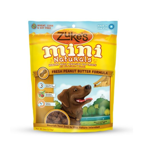 Zuke's Mini Naturals Dog Treats, Fresh Peanut Butter Recipe, 6-Ounce