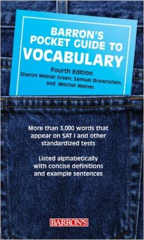 Barron's Pocket Guide to Vocabulary (Barron's Pocket Guides) written by Samuel Brownstein
