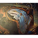 "Salvador Dali Large Oil Painting 24""x20"" Reproduction - ""Soft Watch at The Moment of Explosion"" - a unique gift idea. STOCK CLEARANCE!!!by Manetia"