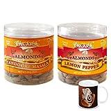 Chocholik - Almonds Tandoori Masala & Lemon Pepper 2 Combo Pack With Diwali Special Coffee Mug - Diwali Gifts