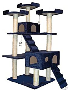 Amazon Com Go Pet Club Cat Tree 50w X 26l X 72h Blue
