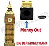 SystemsEleven GOLDEN BIG BEN MONEY BOX SAVINGS BANK SOUVENIR GIFT BRITISH UK LONDON GB