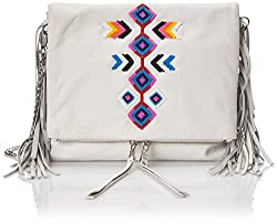 Ash Talulla Fringe Cross Body Bag, Off White, One Size