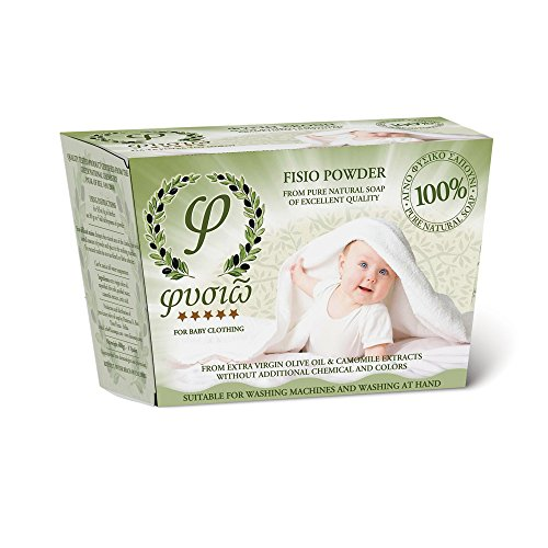 Washing Powder - Bio - from Pure Natural Olive Soap - By Fysio Natural Cosmetics - Suitable for Washing Machines and Washing by Hand - Buy 2 & get FREE DELIVERY