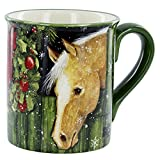 Yellow Holiday Horse Mug