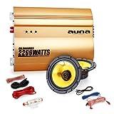 Auna-20-Car-Hifi-Set-Golden-Race-V1-5-Auto-Endstufe-mit-Boxen-2x-500W-max-13cm-Einbaulautsprecher-2200W-Verstrker-inkl-Kabelset-gold