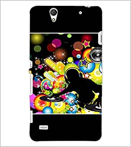 PrintDhaba DJ D-1421 Back Case Cover for SONY XPERIA C4 (Multi-Coloured)