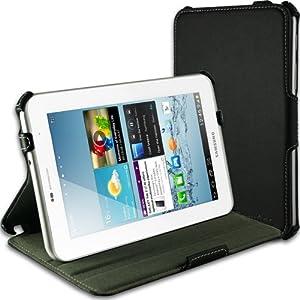 EasyAcc Samsung Galaxy Tab 2 7.0 Case Cover with Multi-View Stand for Samsung Galaxy Tab 2 7.0 P3100 P3110(Black, UltraSlim, PU Leather)