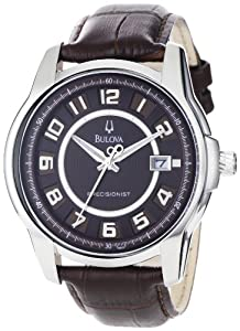 Bulova Men's 96B128 Precisionist Claremont Brown Leather Watch