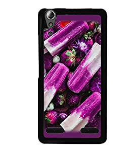 Fuson Premium Blue Berries Metal Printed with Hard Plastic Back Case Cover for Lenovo A6000