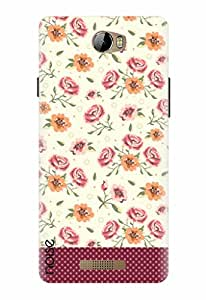 Noise Designer Printed Case / Cover for Karbonn Aura / Nature / Vintage Floral Panel Design