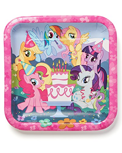 "American Greetings My Little Pony 9"" Square Plate (8-Count) - 1"
