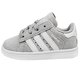 adidas Originals Campus 2 I Fashion Sneaker (Infant/Toddler), Solid Grey/White/Solid Grey, 10 M US Toddler