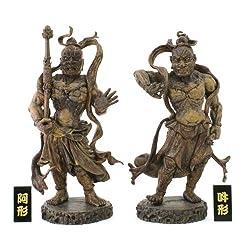 金剛力士(仁王像)  阿形・吽形2体セット+名札付