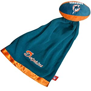 Miami Dolphins NFL Baby Security Blanket w/ Snuggle Ball
