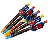Character Kids Disney 5pc Pen Set Stationery School Children Accessories Spiderman One Size