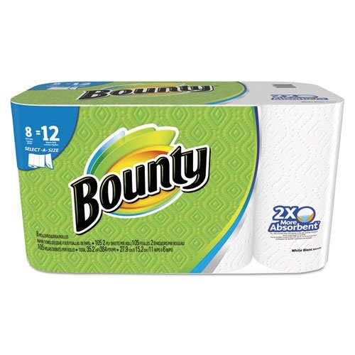 Bounty select a size paper towels white giant roll 8 for Uses for paper towel rolls