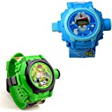 Shanti Enterprises Combo Ben 10 And Doraemon 24 Images Projector Watch