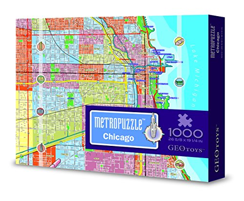 Metropuzzle Chicago - 1000 pc jigsaw puzzle by Geotoys (Chicago Puzzle 1000 compare prices)