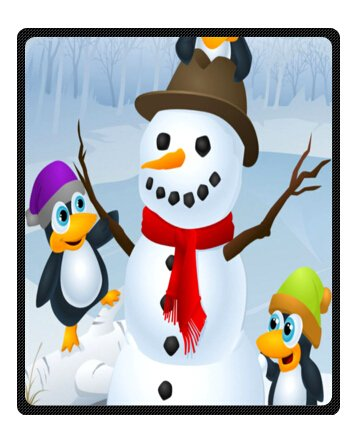 Custom Christmas Penguins 50 X 60 Inches(Medium) Fleece Blankets Throws