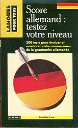 Score allemand : testez votre niveau