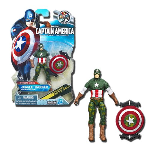 Captain America Movie 4 Inch Series 3 Action Figure #13 Jungle Trooper Captain America