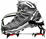 Crampons , Strap on Crampons Tractical Anti Slip Snow Hiking Climbing Shoes Cleats Ski Belt High Altitude Crampon Mountaineering 14 Teeth