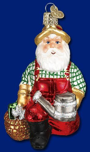 Gardener Santa Christmas Ornament