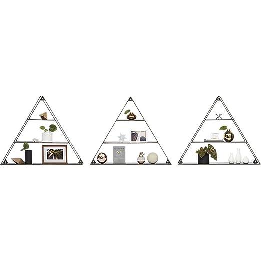 QIANGDA Libreria Scaffale Triangolare Ferro Libreria Nera Assicella Montaggio A Parete Ripiano Divisorio Per Unità Di Camera Creatività Per Soggiorno ( Colore : 3 pieces )