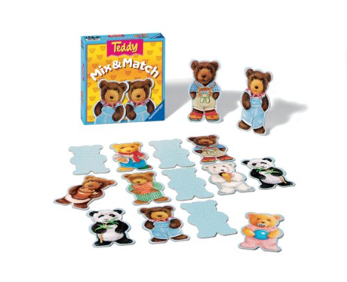 Ravensburger Teddy Mix & Match - Children's Game - 1