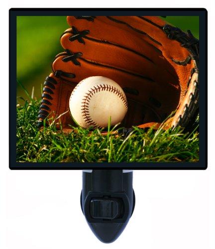 Sports Night Light - Ball And Glove - Baseball front-1079146