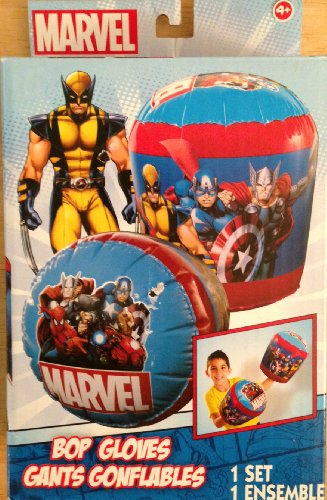 Marvel Bop Gloves with Spiderman, Wolverine, Captain America