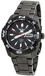 Seiko 5 Sport Black Automatic Mens Watch SNZJ11