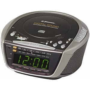 emerson radio ckd9906 am fm stereo dual alarm clock radio with programmable cd player. Black Bedroom Furniture Sets. Home Design Ideas