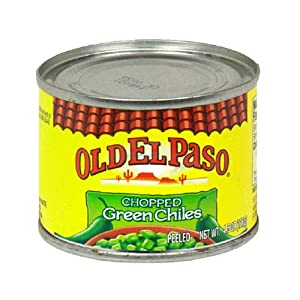Old El Paso Chilies, Green Chili Pepper Chopped, 4.5-Ounce Cans (Pack