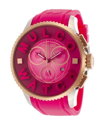Mulco MW3-10302-083 MW310302083 - Reloj unisex, correa de plástico color rosa