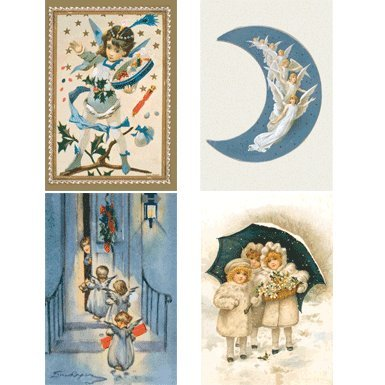 Victorian Christmas Pack of 20 Christmas Cards (Mini Box)||RF10F