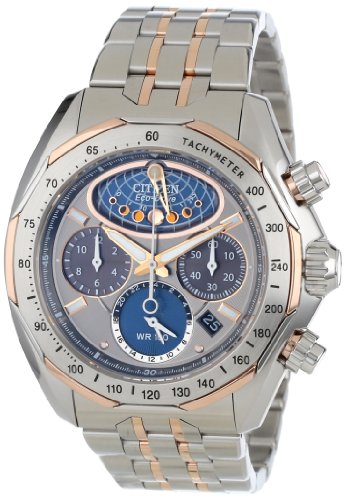 CITIZEN SIGNATURE ECO-DRIVE FLYBACK MOONPHASE AV3006-50H GENTS CHRONOGRAPH WATCH