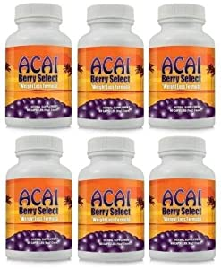 Acai Berry Select Weight Loss Diet Pill Formula 6 60 Capsule Bottles by Health Buy
