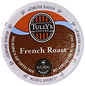 Keurig, Tully's, French Roast, K-Cup Counts, 50 Count