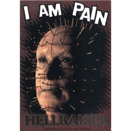Hellraiser - I Am Pain Decal - Sticker Scary