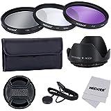 Neewer 52mm Filtre Professionnel et Accessoire Kit pour Objectif de Canon Nikon Sony Samsung Fujifilm Pentax et d'Autre Reflex Numérique Avec 52mm de Filetage -Comprend Kit Filtre (UV, CPL, FLD)+ Porte de Filtre + Tulipe Fleur Para-soleil + Snap-on Bouchon d'Objectif avec Porte-bouchon+ Microfiber Tissu de Nettoyage d'Objectif