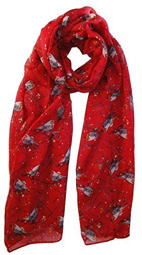 winter-christmas-robin-bird-scarf-in-red-animal-print-ladies-fashion-scarves
