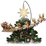 Thomas Kinkade Holidays in Motion Rotating Illuminated Treetopper: Animated Christmas Decor by The Bradford Editions