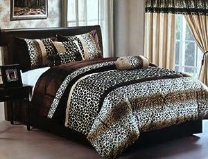 Amazon Com New Safari Brown Leopard Giraffe Skin Print